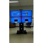 braket tv Stand Video Conference 1 tiang dua tiang 2 tv 4tv kanan kiri cuztom 1