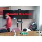 braket tv Stand Video Conference 1 tiang dua tiang 2 tv 4tv kanan kiri cuztom 3