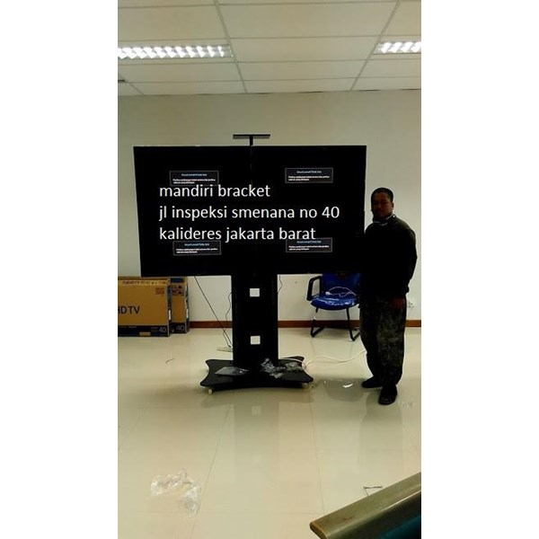 bracket tv Stand berdiri Video Conference 2x2  4tv led