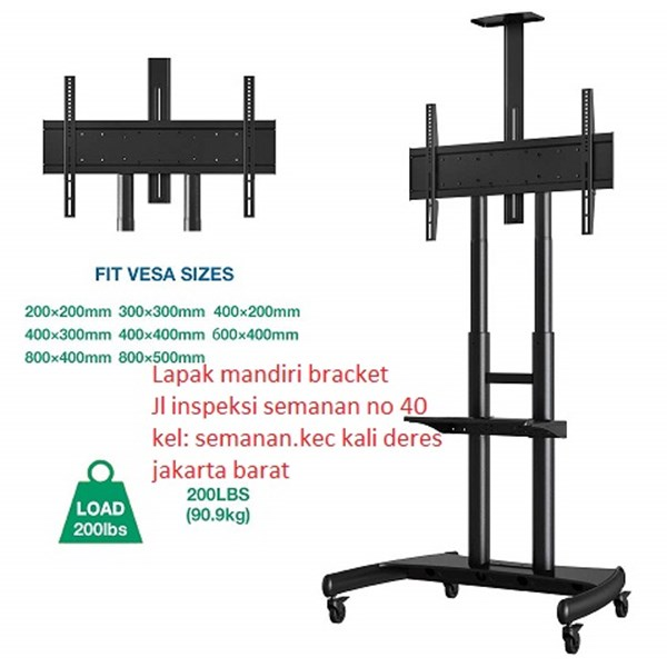 Tiang Bracket TV Stand North Bayou  type AVA 1800 -70-1P