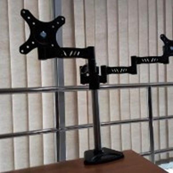 Bracket TV Led/ PC jepit meja kenzo kz -72 - lapak mandiri bracket