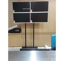standing bracket tv 2x2 4 monitor