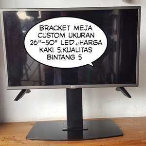 Bracket TV led lcd meja custom