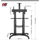 Bracket TV North Bayou  AVF 1800 -70-1P 55 -80 INCI STEEL TV STANDING DENGAN RODA 4