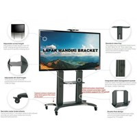 Bracket TV North Bayou  AVF 1800 -70-1P 55 -80 INCI STEEL TV STANDING DENGAN RODA Murah 5