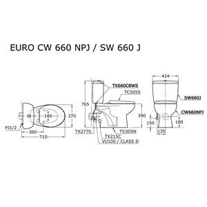 Closet Duduk CW660NPJ-SW660J