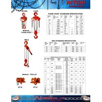 Electric Hoist Nitchi - Lever Hoists Nitchi RB series