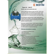 Water Meter - Bestini -  Water Meter Bestini 65mm - 300mm