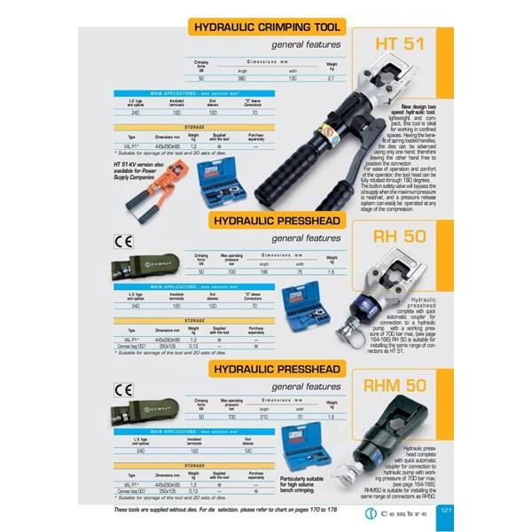 Hydraulic Crimping Cembre - Hydraulic Crimping Cembre HT-131-C - Hydraulic Stripping Cembre  HB12N