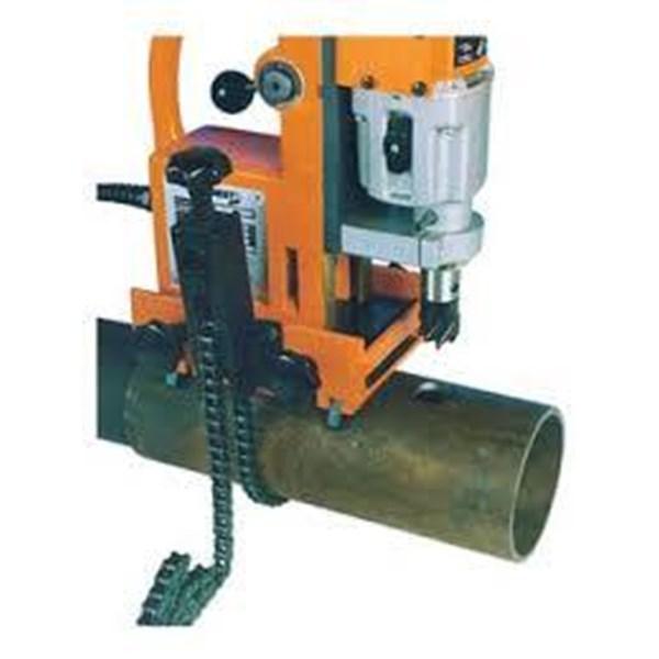 Mesin Bor Duduk Magnet Pipa Besi . Magnetic Drill Clamping Pipe