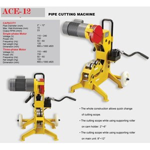 Mesin Pemotong Pipa Besi - Pipe Cutting Machine