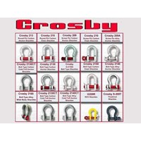Jual Hoists - CROSBY - Shackle Crosby G-209 - Shackle Crosby G-209A - SHACKLE CROSBY - Screw Pin Shackle Crosby Omega G-209 - Screw Pin Shacle Crosby Dee G-210 - Bolt & Nut Shackle Crosby Omega G-2130 - Bolt & Nut Shackle Crosby Dee G-2150
