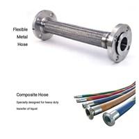 Selang Hidrolik - Flexible Metal Hose - Stainless Steel Braided Wire - Stainless Steel Flexible Hose