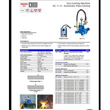 Mesin Potong Plat -  Automatic Gas Cutting Kobewel  KC 12MAX 3 Straight Line 2 Torch