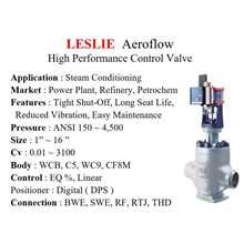 Control Valve LESLIE - High Performance Control Va