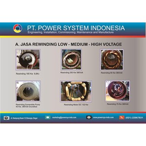 Jasa Rewinding Motor By Power System Indonesia