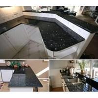 Meja Granit Emeral Pearl Meja Granit Hijau Tua Mata Kucing (Mg 264) Meja Granit Import
