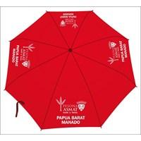 Payung promosi warna merah