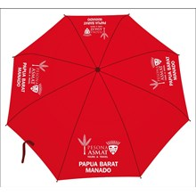 Promotional umbrella red color