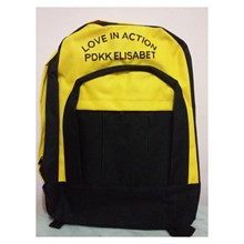 Yellow and Black Color Combination Backpack