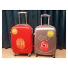 Koper Travel Merah dan Silver 1