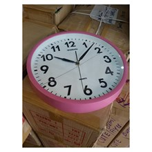 Wall Clock Promotion Pink Color