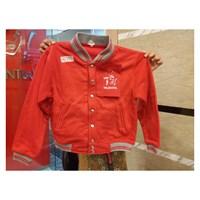 Jaket Baseball Warna Merah Kombinasi