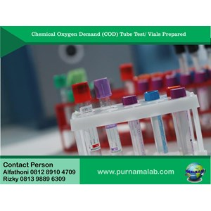 Chemical Oxygen Demand - COD Tube Test/Vials prepared