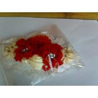Bros Bunga  Merah Bahan Kain