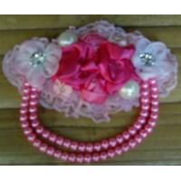 Bros Rantai Bunga Pink Bahan Kain