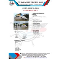 CATAMARAN BOAT P.14.00M VIP (DOUBLE DECK)
