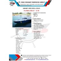 Speed Boat Patroli / Kapal P.12.00M STD (15 PAX)