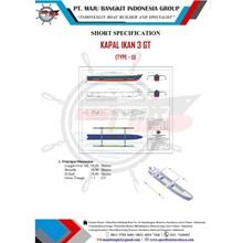 KAPAL IKAN 3 GT P.9.50M  L.0.90 M