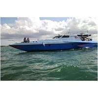 Jual Kapal Bahan fiber Trimaran spesifikasi dan harga