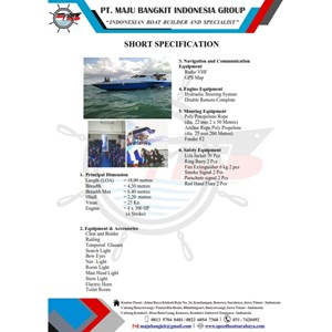 TRIMARAN BOAT P.18.00M SPORTY (60 PAX)