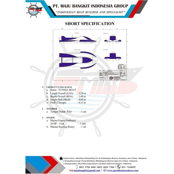 POWER BOAT P.3.50M JETBOAT TYPE 1 (1 PAX)