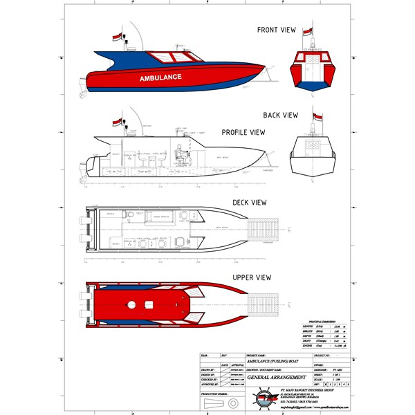 AMBULANCE BOAT P.12.00M SPORTY (OUTBOARD ENGINE)