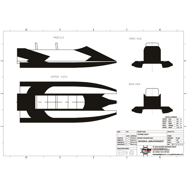 TUNNEL BOAT type 3.1 (2 PAX)