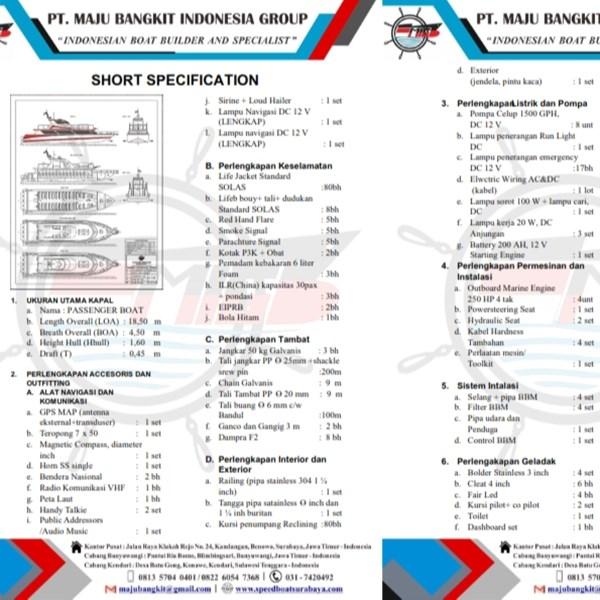 PASSENGER BOAT P.18.50M LUXURY (80 PAX)