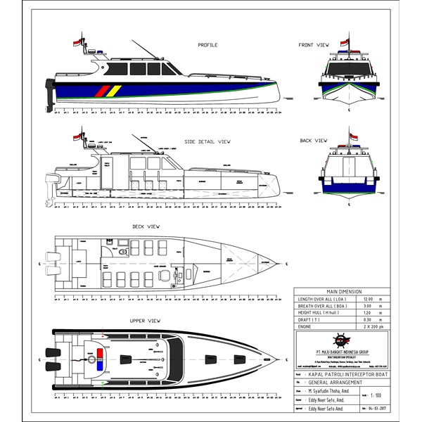 KAPAL PATROLI P.12.00M INTERCEPTOR type 2 (14 pax)