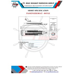 PASSENGER BOAT P.18.00M OLD MODEL type 2 (80 PAX)