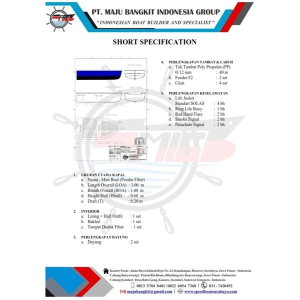 MINI BOAT P.3.00M SPEED-LOW (4 PAX)