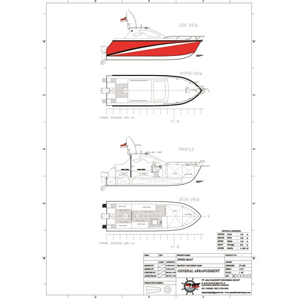 SPEED BOAT P.7.20M SPORTY (8 PAX)