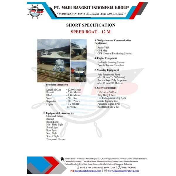 SPEED BOAT P.12.00M STD