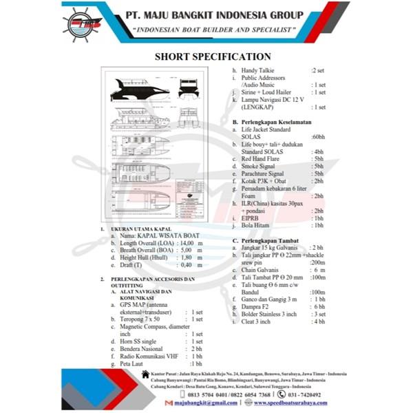 CATTAMARAN BOAT P.12.00M -14.00M VIP (60 PAX)