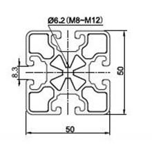 Aluminiu Profile 5050 dengan type ( H8 50x50R4 L )