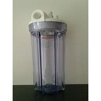 Double O Ring Clear Filter Housing 10