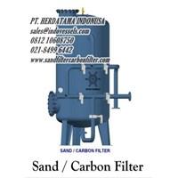 Sand Filter dan Carbon Filter Kapasitas 4m3  Call. 0812 1060 8750 sandfiltercarbonfilter.com PT. Herdatama Indonusa