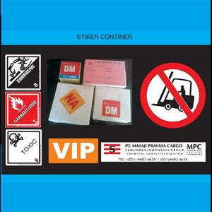 Jasa Cetak Stiker Continer By CV. Rahmata Cemerlang