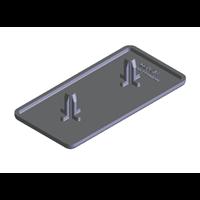 Aksesoris Tutup Ujung Aluminium EC6 60 x 30mm Hitam